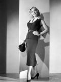 Lizabeth Scott Posed Black Dress with Heels