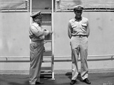 Mister Roberts Two Sailors Talking in Black and White