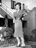 Martha Raye wearing Trench Coat in Black and White
