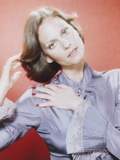 Lesley Warren Portrait in Greu Dress