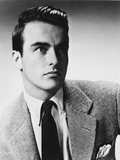 Montgomery Clift Portrait in Black Coat and Tie