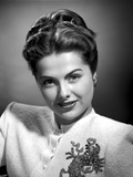 Martha Hyer on Embroidered Top