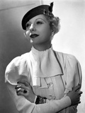 Lilyan Tashman Leaning on Dress with Cap and Ring
