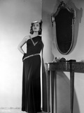 Lizabeth Scott Posed in Long Black Gown