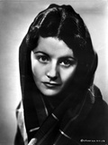 Margaret Lockwood Scarf on Head Portrait