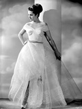 Martha Hyer on a Gown with One Hand on Waist