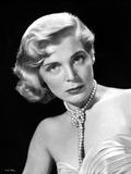 Lizabeth Scott Portrait in Classic with Pearl Earrings