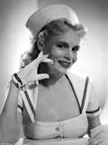 Marie Wilson smiling in White Sailor Dress Classic Portrait