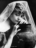 Lillian Gish on a Veil Leaning on a Vase Portrait