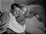 North By Northwest Couple hugging Scene in Black and White