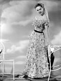 Martha Hyer on Printed Dress Portrait