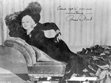 Mae West Signature Portrait in Black and White