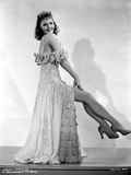 Mary Martin on a Ruffled Dress and sitting on a Chair Portrait