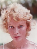 Mia Farrow Close Up Portrait wearing White Tank Top