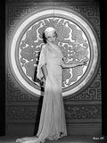 Lilyan Tashman Posed in Long Gown and Cap
