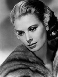 Portrait of Grace Kelly Black and White