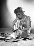 Penny Singleton Seated wearing Silk Dress