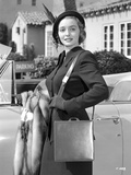 Patricia Neal on a Long Sleeve and smiling