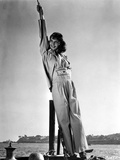 Mary Martin standing and Leaning on a Post in Classic