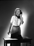 Priscilla Lane Answering a Telephone Pose