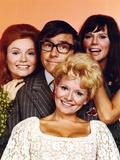 Rowan & Martin Cast with Peach color Background