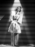 Mary Martin on a Coat standing and Leaning