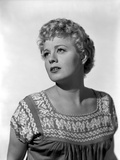 Shelley Winters wearing a Blouse in a Close Up Portrait
