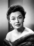 Ruth Roman wearing Fur Coat Close Up Portrait