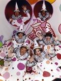 Rowan & Martin Cast in Clown Costume