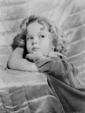 Shirley Temple Leaning Pose in Classic Portrait