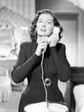 Rosalind Russell With Telephone Black and White