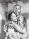 Porgy And Bess hugging Couple Portrait in Black and White