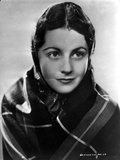 Margaret Lockwood Posed in Checkered Veil