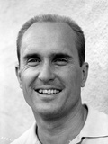 Robert Duvall smiling in Black and White