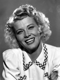 Penny Singleton smiling in White Blouse Close Up Portrait