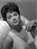 Suzanne Pleshette in a White Dress with Pearl Necklace