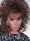 Stefanie Powers Looking Serious in Close Up Portrait