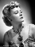 Penny Singleton Looking Away wearing Flower Necklace Portrait
