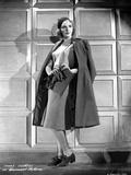Mary Martin on a Dark Coat standing Portrait