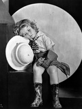 Shirley Temple Sleeping Face Classic Portrait