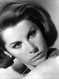 Stefanie Powers in Black and White Close Up Portrait