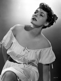 Ruth Roman Posed in White Dress Portrait