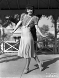 Penny Singleton Posed in Checkered Blouse and Skirt