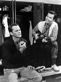 Pat Boone Talking in Black Suit With Man