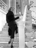 Patricia Neal on a Long Sleeve standing on Stairs