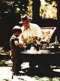 Marlon Brando with Grandson Movie Still from The Godfather