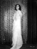 Pola Negri on a Lace Dress standing