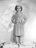 Shirley Temple Posed in Plaid Dress Classic Portrait