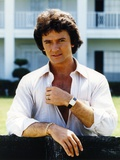 Patrick Duffy smiling in White Long Sleeves