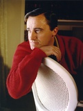 Robert Vaughn Portrait in Red Sweater